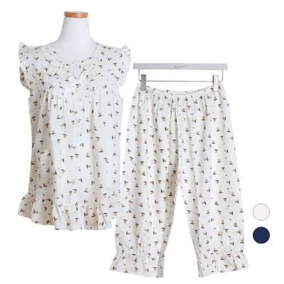 [쿠비카]베어 레이온 투피스 민소매 여성잠옷 W449