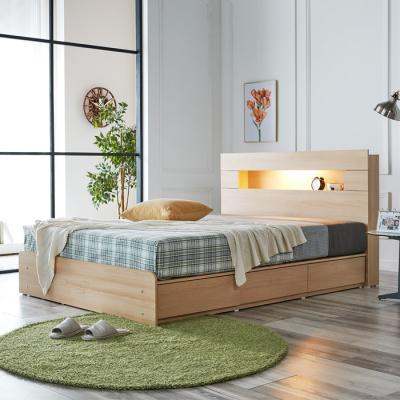 [노하우] 로아 LED 헤드수납 서랍형 침대 Q