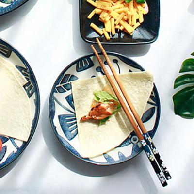 아이카 빈티지 블루 플라워 접시(14cm) 1p
