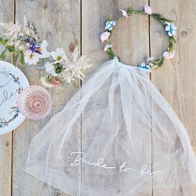 [빛나파티]보호 Bride to be 화관 베일