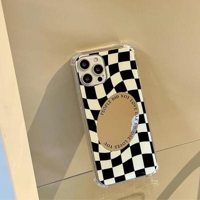 아이폰 케이스 12 11 프로 맥스 미니 X 8 체크 미러