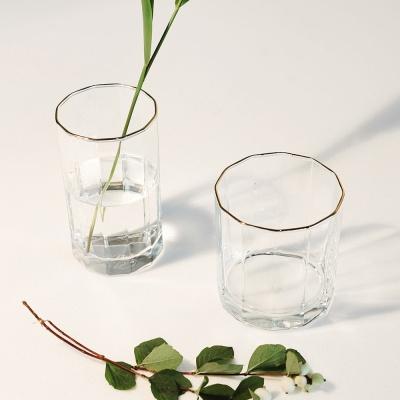 라씨에뜨 로이 24k 골드라인 투명 유리컵