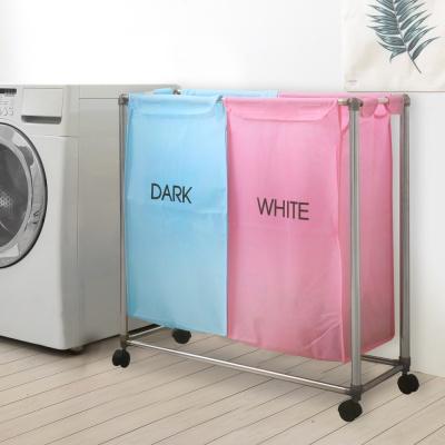 분리보관함 핑크블루2P 세탁/빨래통/세탁선반