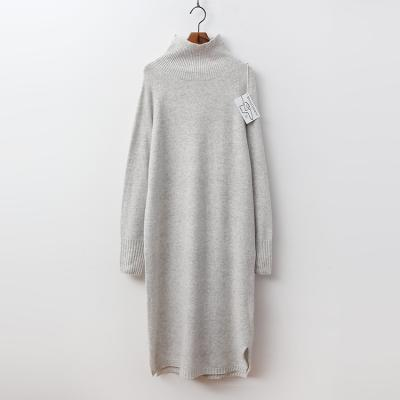 Laine Cashmere N Wool Turtleneck Long Dress