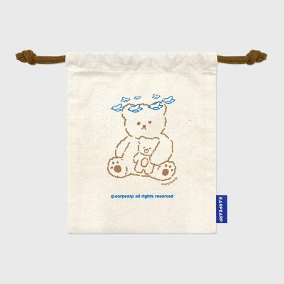 Blue bird bear(컬러스트링파우치)