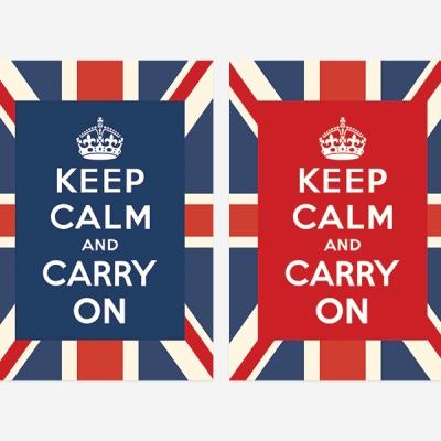 Keep Calm 킵캄 유니언잭 포스터 - A2