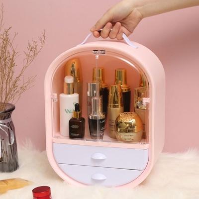 화장품 네일 정리함 립스틱 향수 정리대 보관함 핑크