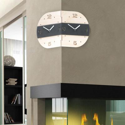 [하이모리] 타임데코 라운드 코너벽시계 BkLine [핸드메이드/월클락/양면시계/인테리어소품]