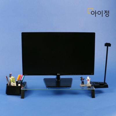 스마트독브릿지 모니터받침대 S294 투명유리/블랙