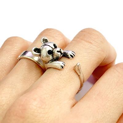 [실버문] 나의 테디베어 반지 길이조절가능