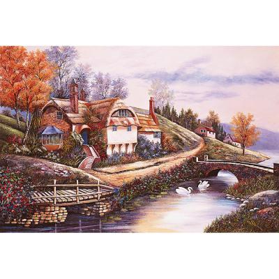 1000피스 직소퍼즐 - 강이 보이는 작은 집