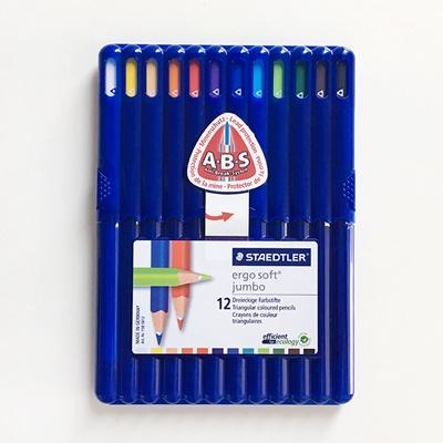 에고 소프트 점보색연필 12색/158-SB12 스테들러