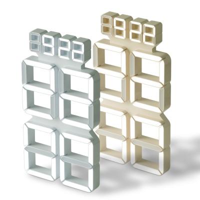 플라이토 버터 3D LED 인테리어 세로형 벽시계