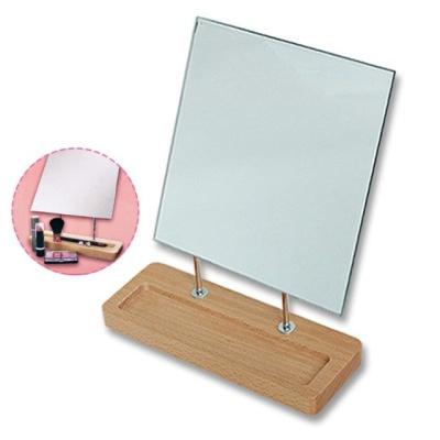 사각 원목 180도 회전 트레이 거울