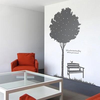 스윗스토리(나무)  (반제품B)  그래픽스티커 포인트 시트지 인테리어 스티커