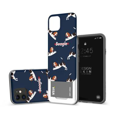 아이폰11프로맥스 슬라이더 그래픽 비글 카드케이스