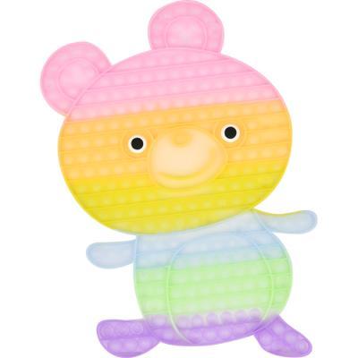 레인보우 푸쉬 팝 버블 - 곰돌이 (야광)