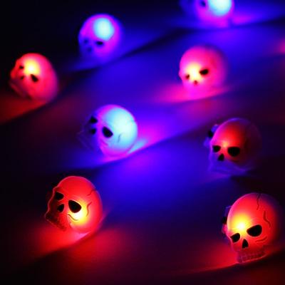 LED 플래시라이트 뱃지 (해골) 25개 한팩