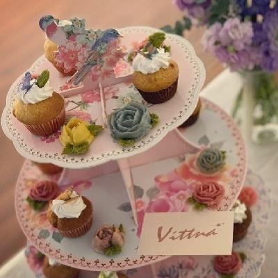 [TT] 작은새 티파티 3층 종이 케익 스탠드