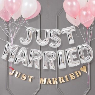 결혼 답 프로포즈 은박풍선세트 JUST MARRIED