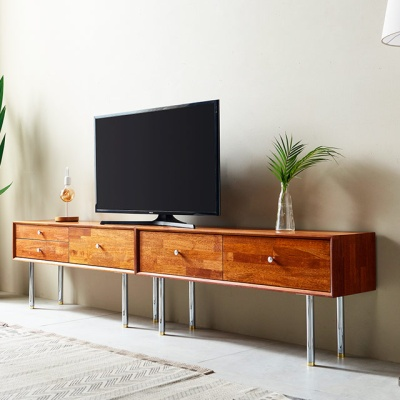 큐브M 2400 거실장 티비선반