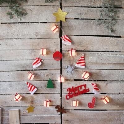LED 산타모자 벽트리 세트 (선물상자)