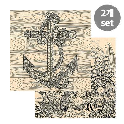 [컬러링 우드캔버스] 바다탐험+앵커(17인치)
