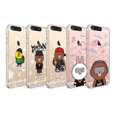 라인프렌즈 iPhone 6(s)/6(s) Plus BEAT BROWN 2 CASE