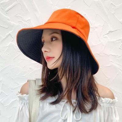 여성 양면 벙거지 썬캡 자외선 차단 비치모자 버킷햇