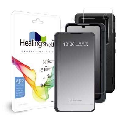 LG V50S ThinQ 듀얼 스크린 올레포빅 케이스 필름 3종