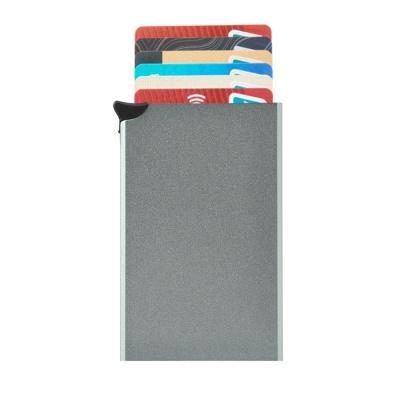 RFID차단 버튼 슬라이드 카드지갑(라이트그린)