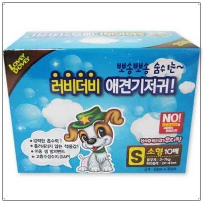 애견 관리용품 러비더비 애견 기저귀 10매 (S)