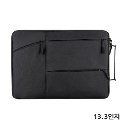 여성 예쁜 수납 파우치 노트북 가방 케이스 13.3 블랙