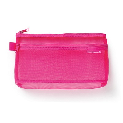 CL MESH 펜 파우치 - 핑크