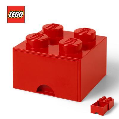 레고 블럭 서랍형정리함 4구 1730_ 빨강