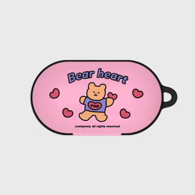 Bear heart-pink(Buds hard case)
