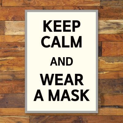 코로나 예방 포스터_027_KEEP CALM WEAR A MASK