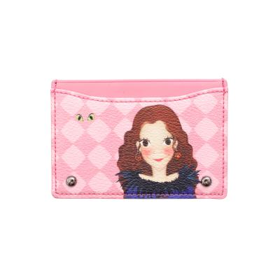 [육심원]아가일심플카드지갑 핑크루나