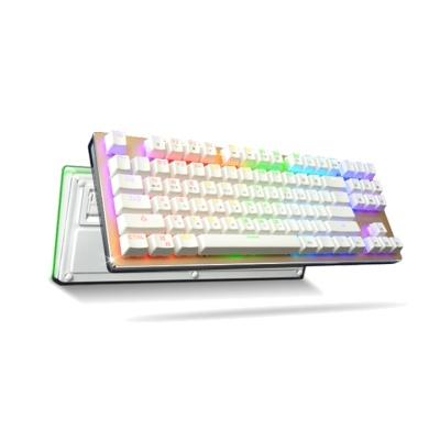 한성컴퓨터 GTune 크리스탈클리어 하우징 기계식 키보드 XK1L BOSSMONSTER KLv.76 (RGB백라이트 / 오테무 축 / 청축,적축,갈축)