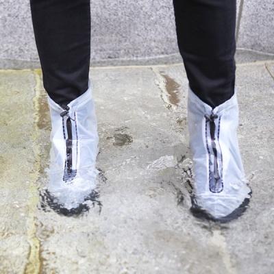 장마철 휴대용 PVC 방수 비닐장화 슈즈 신발 레인커버