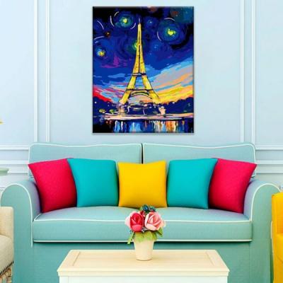 DIY 명화그리기 [ 별이빛나는 에펠탑 ] - 40cm*50cm