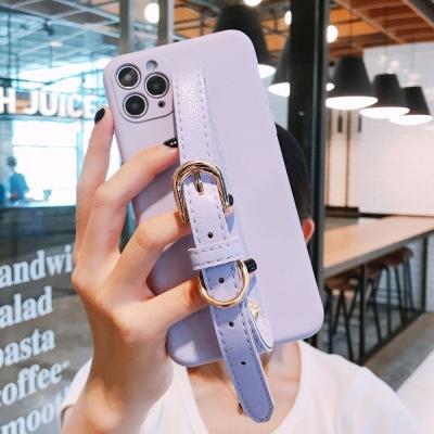 아이폰11 PRO MAX SE2 8 7 라벤더 벨트 스트랩 케이스