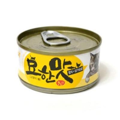 묘한맛 참치 닭가슴살 80g 고양이건강간식