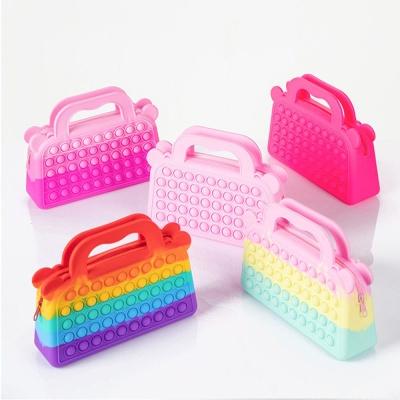 푸쉬팝 핸드백 가방 실리콘 뽁뽁이 신상 팝잇 파우치