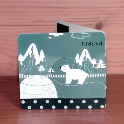 플라스틱 자석 자동책갈피 수지인 알래스카 세계여행