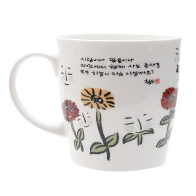[퍼니피쉬] 이철수 엽서머그 - 가을꽃