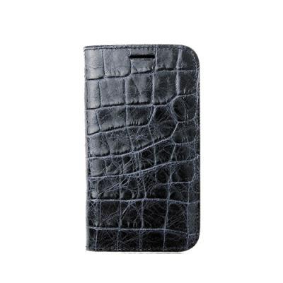 [매니퀸] 갤럭시S4 가죽케이스 - 크록 다크네이비