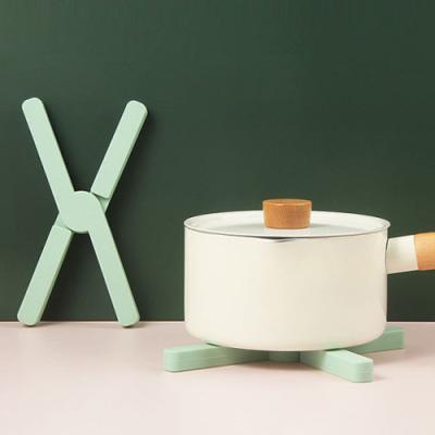 (와인앤쿡)파스텔 접이식 냄비받침 1개(색상랜덤)