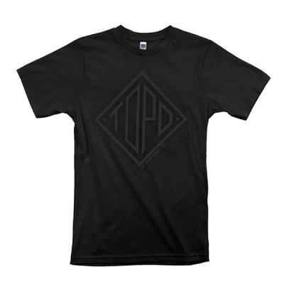토포디자인 DIAMOND TEE BLACK TDDT014