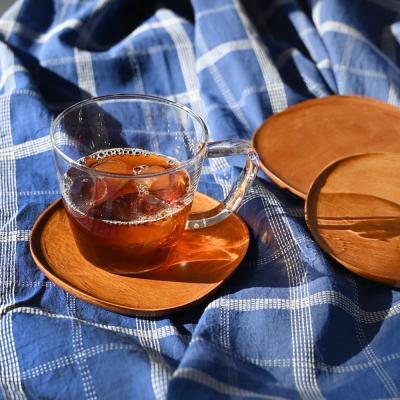 롬우드 마호 원목 컵받침